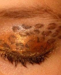 Леопардовый макияж