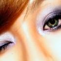 Фиолетовый макияж глаз