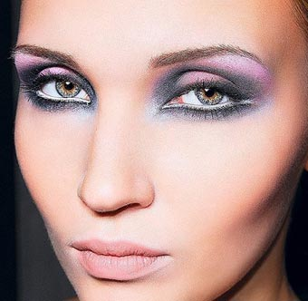 фиолетовые тени