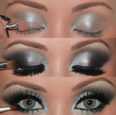 темно серые глаза макияж
