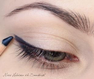 макияж синими тенями
