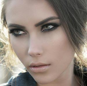 красивые зеленые глаза