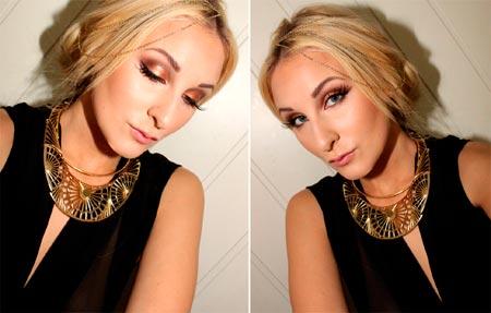 золотой макияж