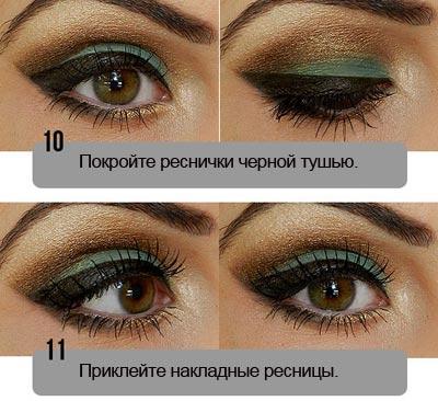 макияж в зеленом цвете