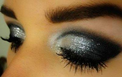 темный макияж