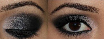 видео макияж с черными и белыми тенями пошагово