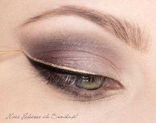 макияж в золотом цвете