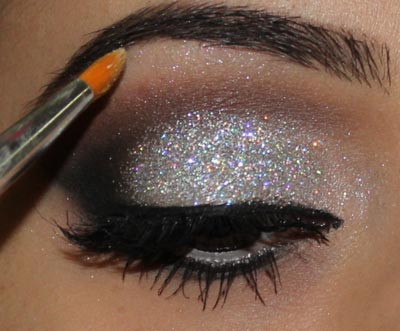 макияж глаз на рождество
