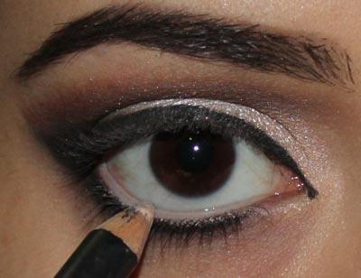 макияж с блеском