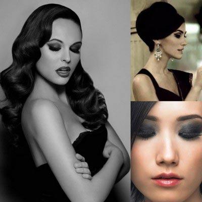 макияж к черному платью