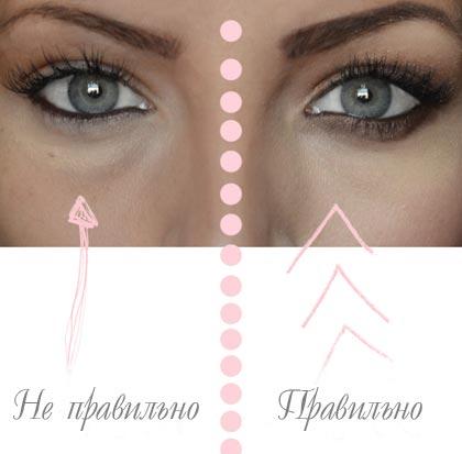 Как замаскировать темные круги под глазами видео