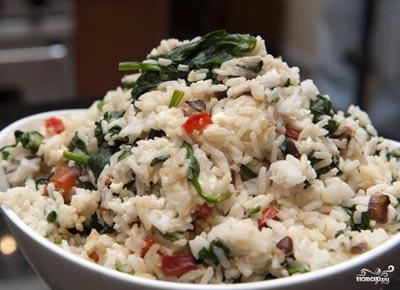рис со шпинатом