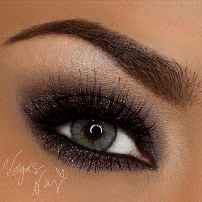 макияж для серых глаз