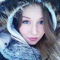 девушка зима