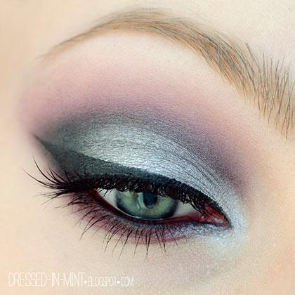 серебряный макияж