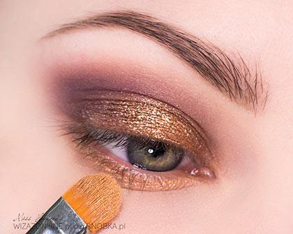 золотистый макияж